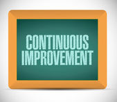 Continuous improvement sign message — Stock Photo