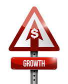 Growth sign illustration design — Stockfoto