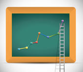 Ladder to business profits illustration design — Foto Stock