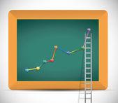 Ladder to business profits illustration design — Stockfoto