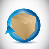 Box and cycle illustration design — Stock Photo