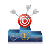 Podium target illustration design — Stockfoto