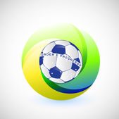 Unique brazil soccer seal flag illustration — Stock Photo