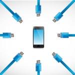 Cables usb phone illustration design — Stock Photo #46766513