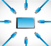 Cable usb tablet illustration design — Photo
