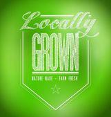 Locally grown illustration design — Stock Photo