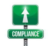Compliance street sign illustration design — Stock Photo