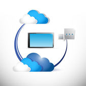 Cloud computing connection concept — Stock Photo