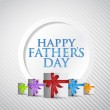 Happy fathers day gift card illustration design — Stock Photo #47034343