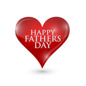 Happy fathers day heart illustration design — Stock Photo