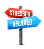 Stressed and relaxed signs illustration design — Stock Photo