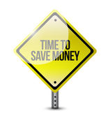 Time to save money sign illustration design — Stock Photo