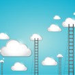 Ladder to clouds illustration design — Stock Photo #47235823