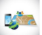 Travel gps plans concept illustration — Stock Photo