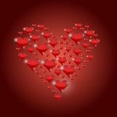 Set of red hearts illustration design — Stock Photo
