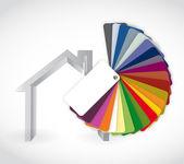 Casa y color guía icono ilustración — Foto de Stock