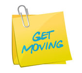 Get moving post illustration design — Foto de Stock