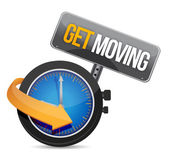 Get moving watch sign illustration design — Stock Photo