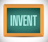 Invent message on a blackboard illustration — Stock Photo