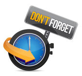 Do not forget watch sign illustration design — 图库照片