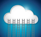 Cloud and ladders illustration design — Stock Photo
