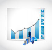 Business investment opportunities graphs — Stock Photo