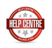 Help centre seal illustration design — Stock Photo