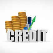 Business credit sign illustration design — Photo