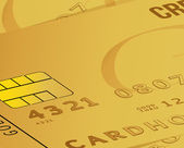 Gold credit card business close up illustration — Stock Photo