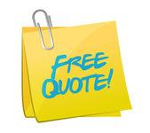 Free quote post illustration design — Stock Photo