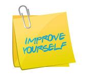 Zlepšit sami post obrázek designu — Stock fotografie