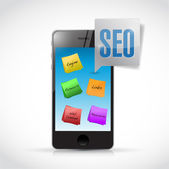 Phone seo posts illustration design — Stock Photo