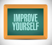 Improve yourself sign illustration design — Foto Stock