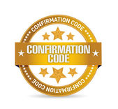 Confirmation code seal illustration design — Stock Photo