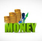Money concept illustration design — Stock Photo