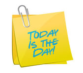 Today is the day post yellow illustration design — Stock Photo
