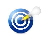 Target and pencil light bulb illustration design — Stock Photo