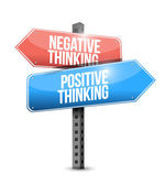 Positive and negative thinking street sign. — Stock Photo