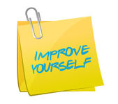 Improve yourself post illustration design — Stock Photo