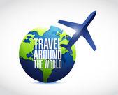 Cestovat po celém světě ilustrace design — Stock fotografie