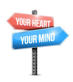 Your heart, your mind illustration design — Stock Photo