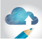 Cloud scribble drawing illustration design — Stock Photo