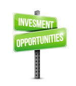 Investment opportunities sign illustration design — Stock Photo