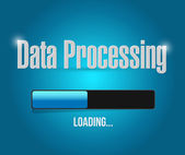 Loading data processing illustration design — Stockfoto