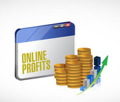 Online profits concept illustration design — Foto Stock