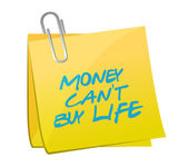 Money cant buy life post illustration design — Stock Photo