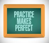 Practice makes perfect message illustration — Stock Photo