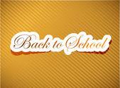 Back to school card illustration design — Stock Photo