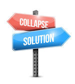 Collapse and solution sign illustration design — Stock Photo