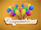 Congratulations balloon card. illustration design — Stock Photo